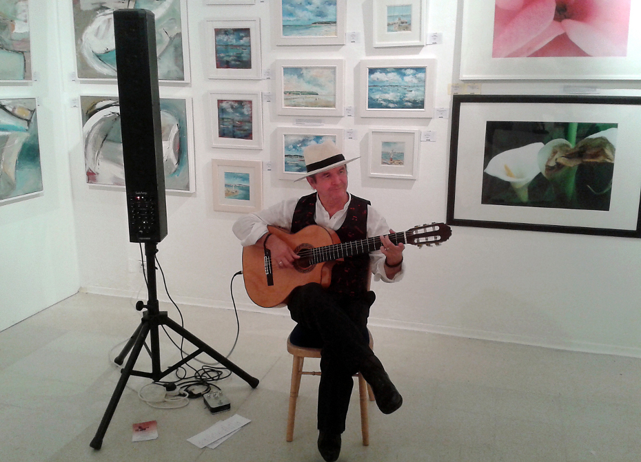 Bob Hooper - Spanish Guitarist performing at the Royal College of Art, Kensington, London - 2012