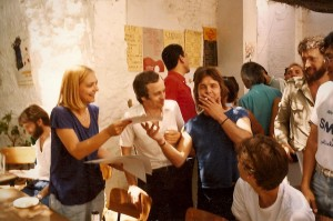 Me receiving my certificate from Paco Peña and his wife Karin at his Guitar Masterclass.