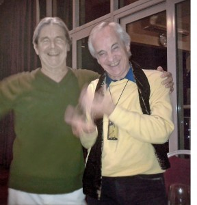 Me and Paco Peña at The London Guitar Studio's 2012 Christmas Party.