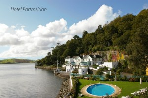 Hotel Portmeirion - I always enjoy playing here - it's so pretty.